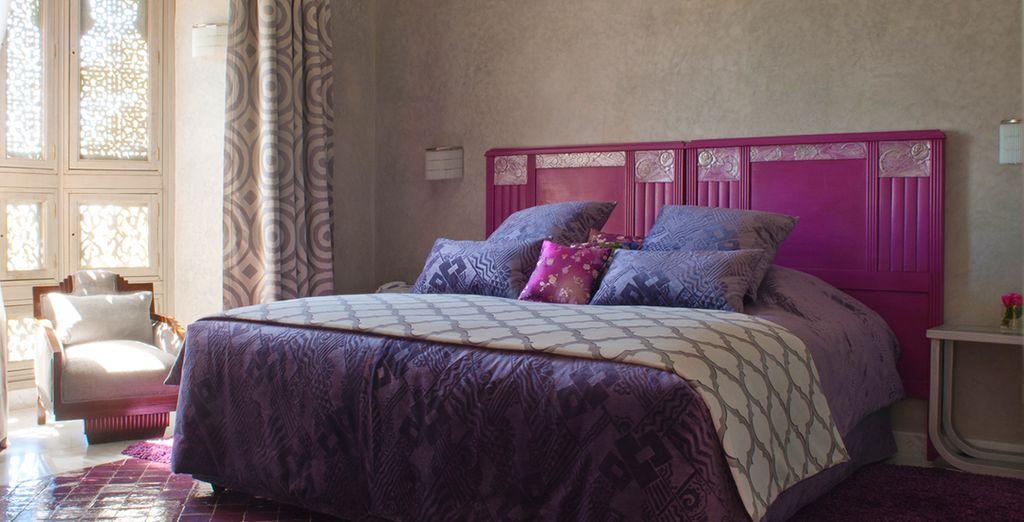 Te alojarás en una Suite, cada una tematizada y decorada de manera diferente