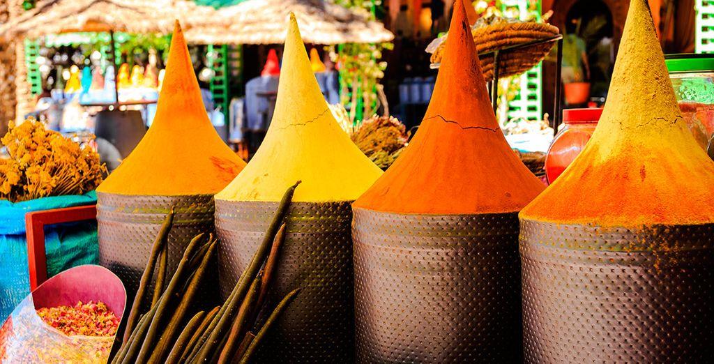 Sorpréndete con todo el colorido e inspiradores aromas de la ciudad marroquí