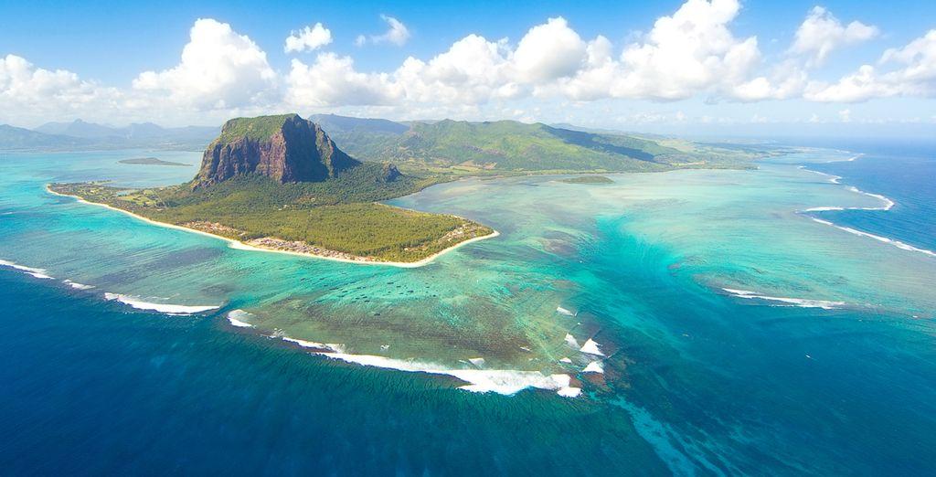 Vista panorámica de la Isla Mauricio