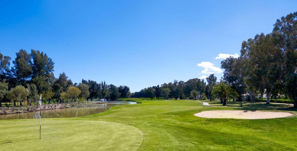 Un campo de golf inmenso ...