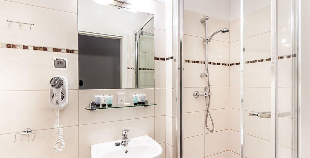 Equipadas con un cómodo baño propio