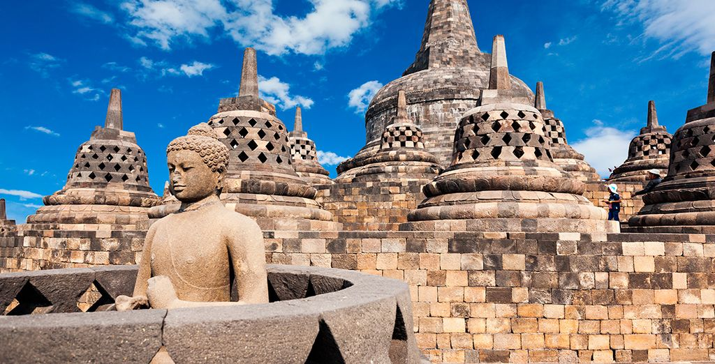 El templo de Borobudur, uno de los grandes atractivos del segundo día de estancia