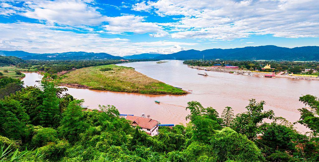 Contemplarás el Triángulo de Oro donde convergen los límites de Tailandia, Laos y Myanmar