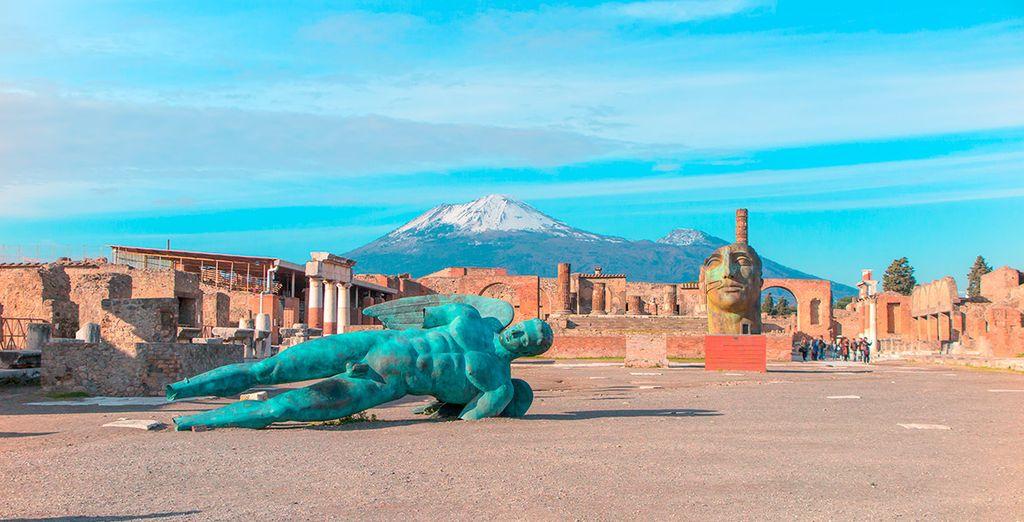 La erupción del volcán Vesubio sepultó la ciudad