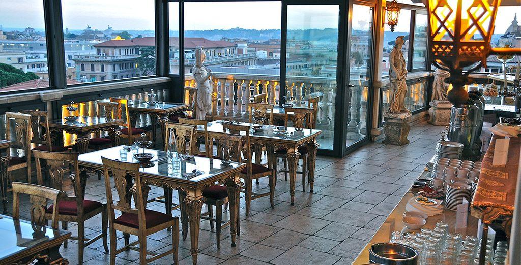 Admira las preciosas vistas desde el restaurante