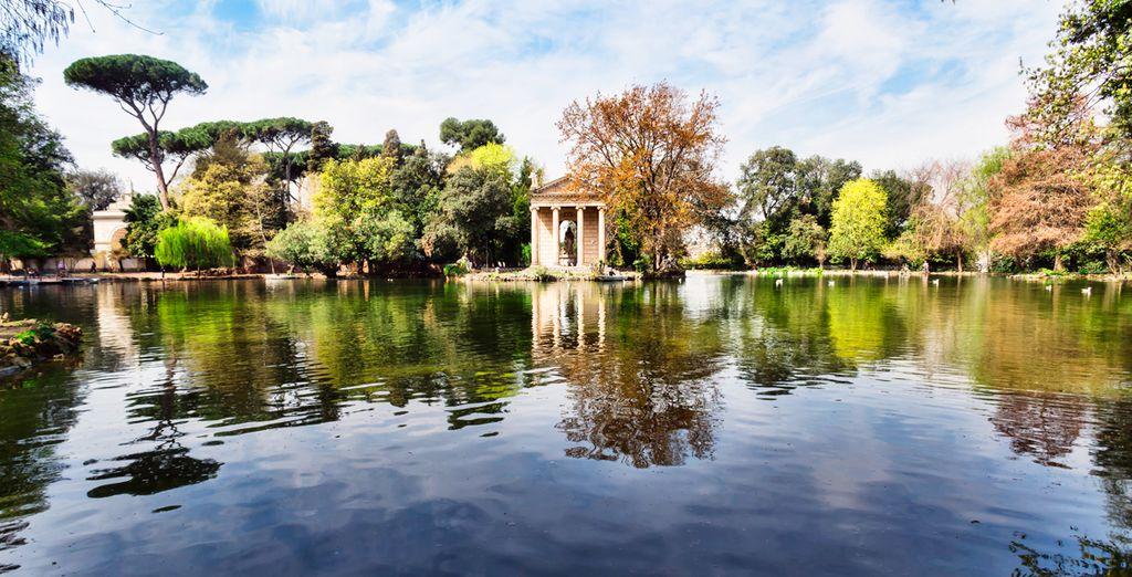 Conoce los jardines de Villa Borghese
