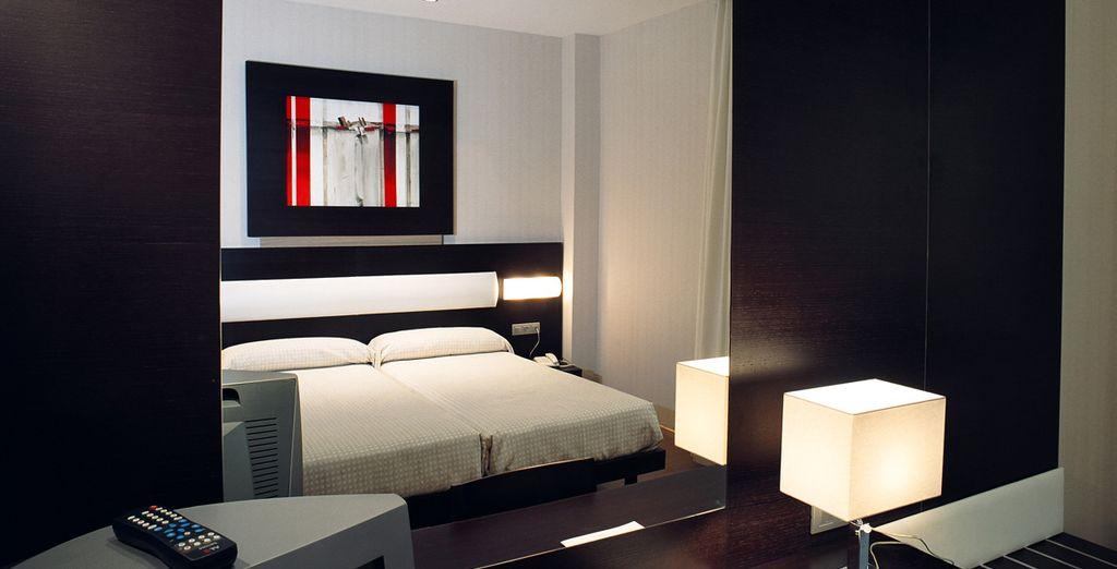 Te alojarás en una confortable habitación Estándar totalmente equipada