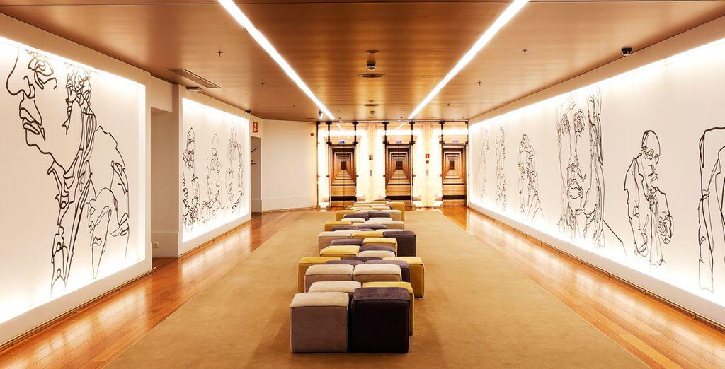 El arte forma parte de la decoración en Holiday Inn Porto Gaia 4*