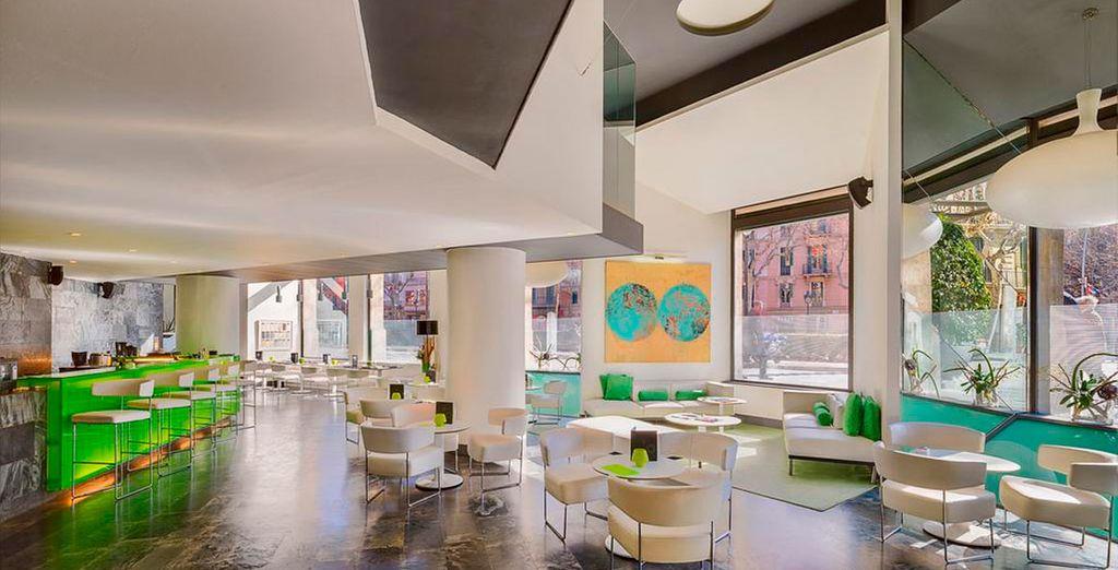 Elegantes instalaciones con espacios para tu descanso