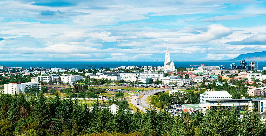 El hotel se encuentra a cinco minutos en coche del centro de Reikiavik