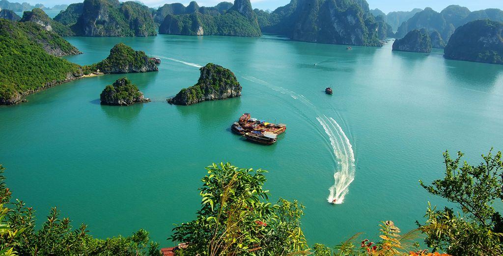 Recorrerás la Bahía de Halong en crucero