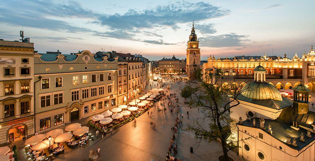 El centro histórico de Cracovia posee una gran belleza