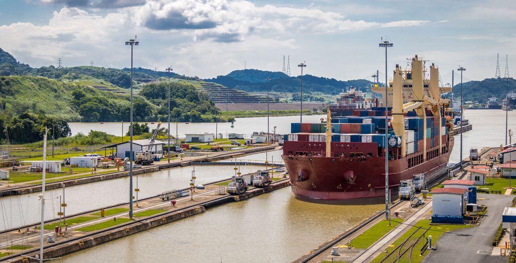 Puedes acercarte a las esclusas de Miraflores para visitar una de las obras de ingeniería más espectaculares, el Canal de Panamá