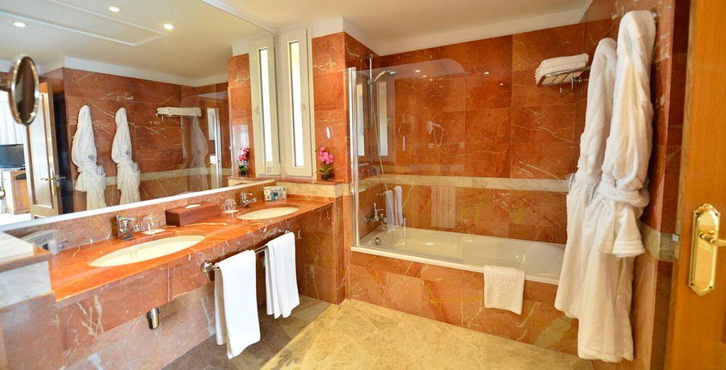Tu baño completamente equipado...