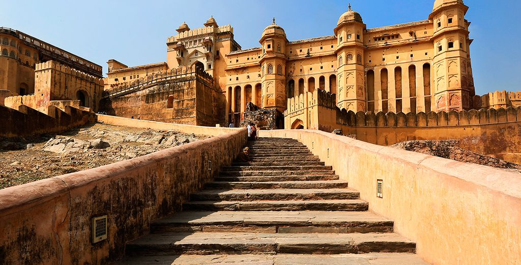 ... hasta el Fuerte de Amber, uno de los iconos del Rajasthan