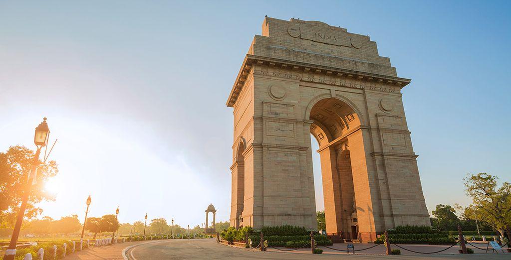Te maravillarás con la imponente Puerta de la India