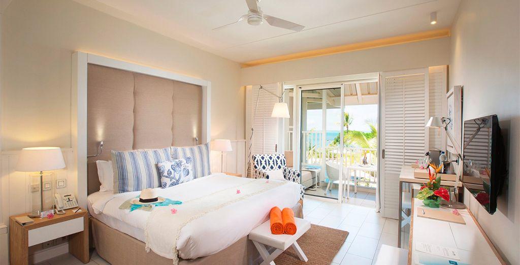 O elige una lujosa y confortable habitación Deluxe con vistas al océano