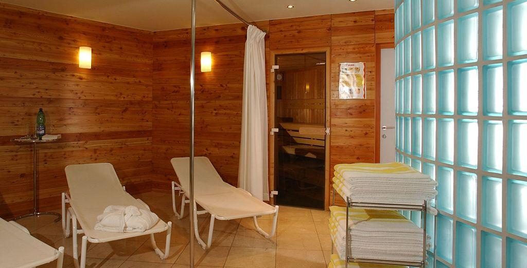 Disfruta de tu acceso al centro de bienestar y sauna