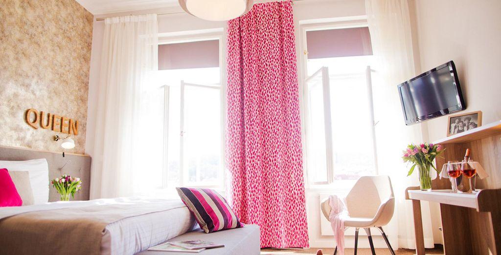 Tu habitación Deluxe en el Hotel Klárov 4*