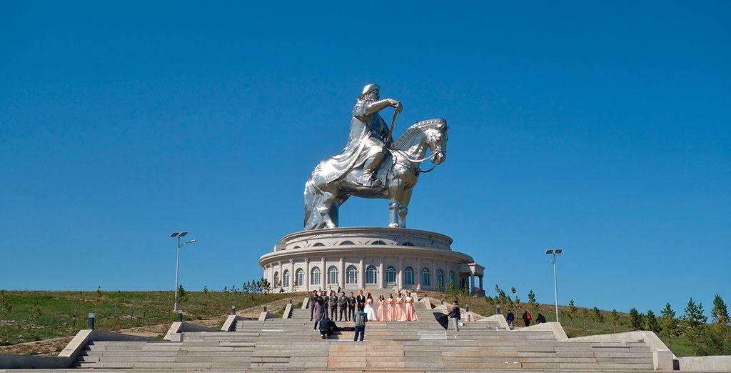 El majetuoso monumento a Genghis Khan