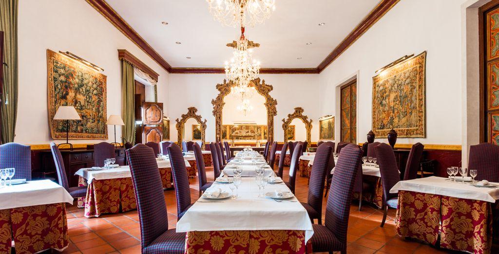 Disfruta del exquisito menú degustación de Hospedería Palacio Iglesuela del Cid 4*