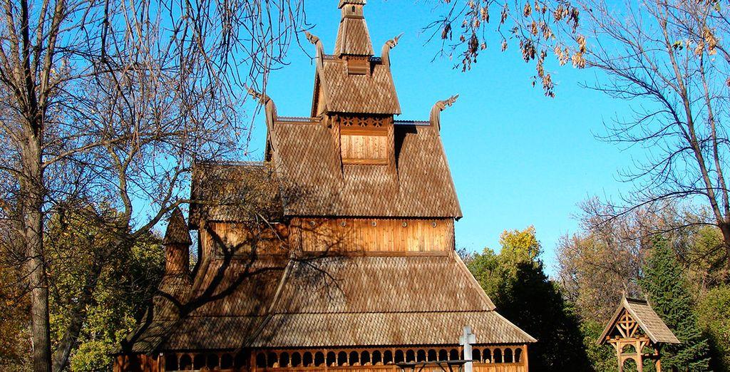 Iglesia Vikinga de madera en Vik