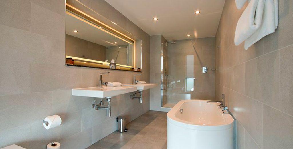 Tendrás un equipado baño privado