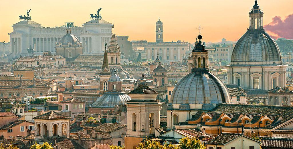 La llamada Ciudad Eterna y sus imponentes edificios