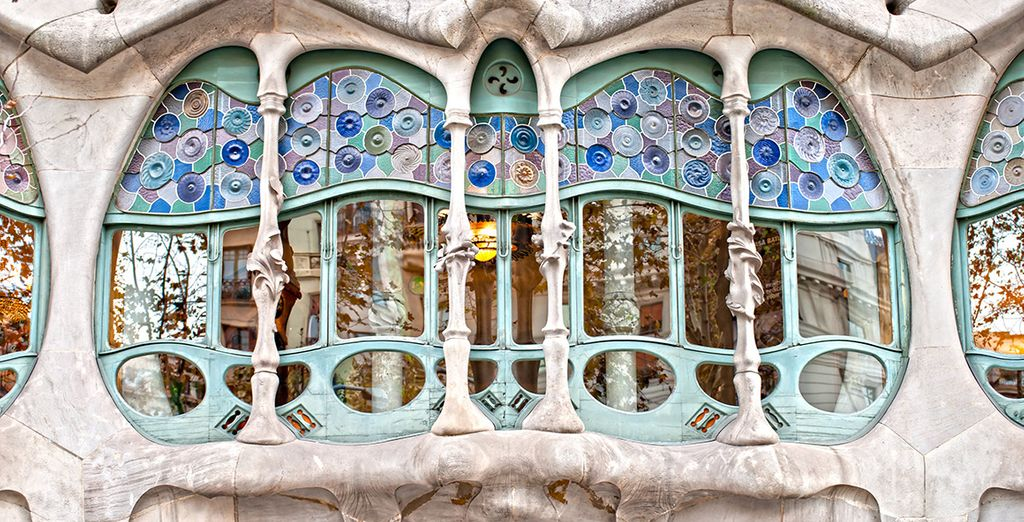 El original mirador de la Casa Batlló en Paseo de Gracia