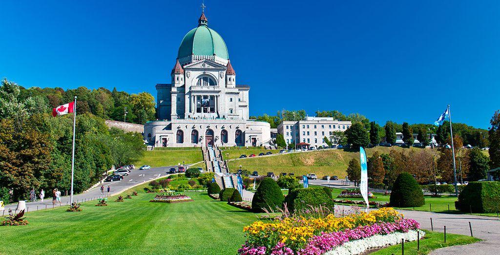 El famoso Oratorio de Saint Joseph, importante icono canadiense