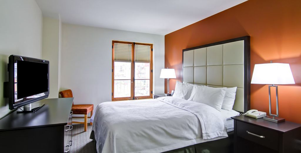 Con habitaciones luminosas y acogedoras