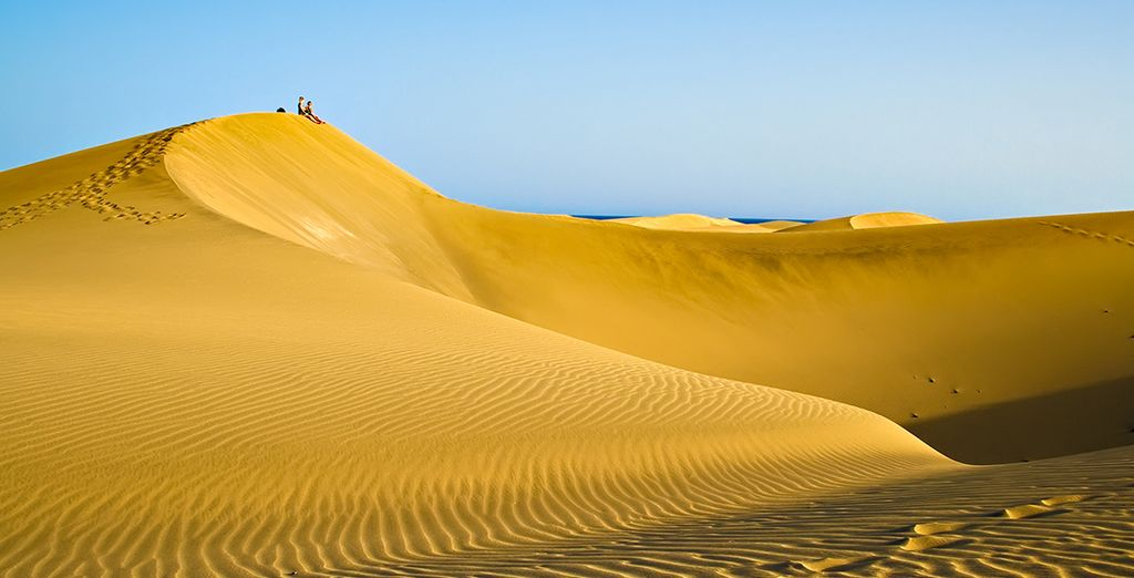 Contempla las dunas de Maspalomas