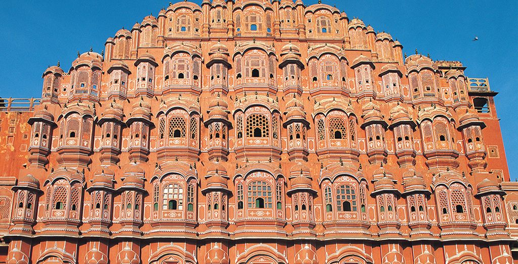 El Palacio Hawa Mahal en Jaipur