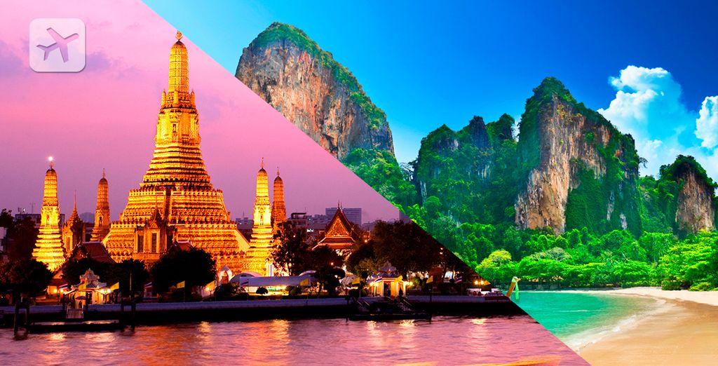 Disfrute de un combinado entre Bangkok y Krabi
