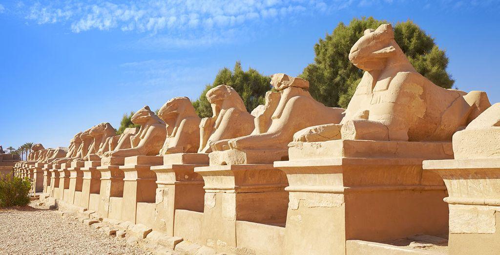 El Templo de Karnak será una de las paradas