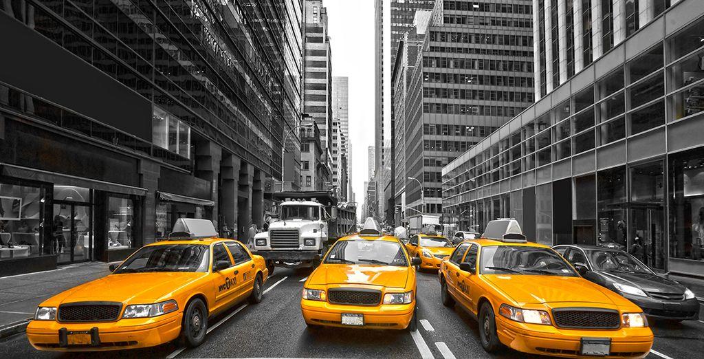 Los famosos taxis de Nueva York con su color amarillo característico