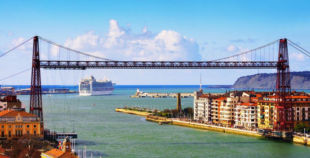 El emblemático Puente de Vizcaya
