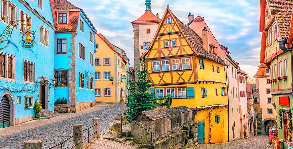 Y pasarás también por Rothenburg, una joya medieval salida de un cuento de hadas