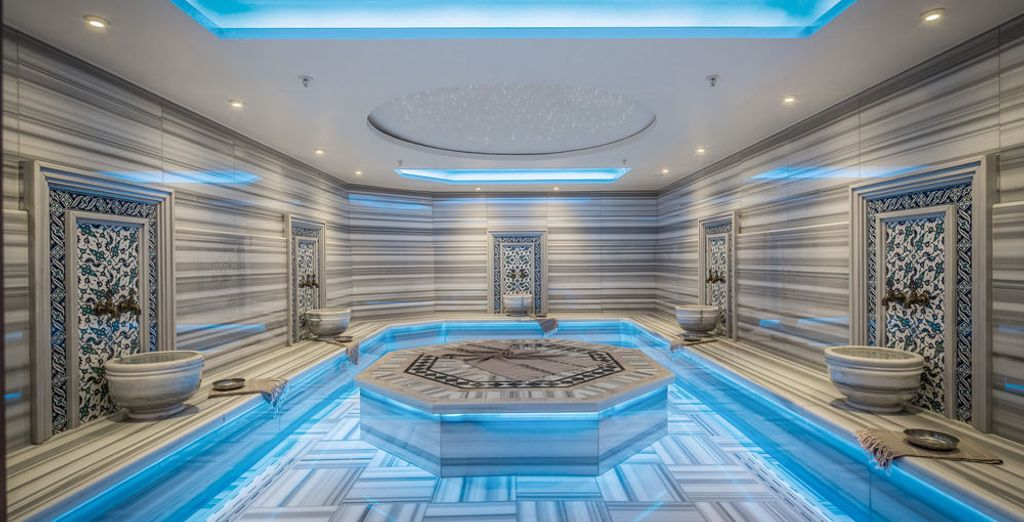 Y un tradicional baño turco con cargo adicional