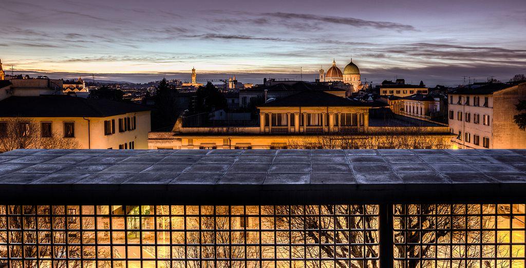 La ciudad de Florencia a sus pies