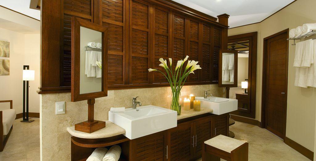 Con baño privado en su villa