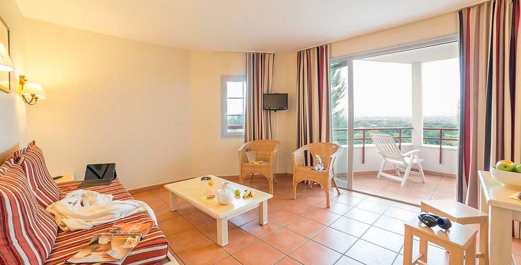 Ofrecen unas vistas magníficas al campo de golf de Arcangues, cerca de Biarritz
