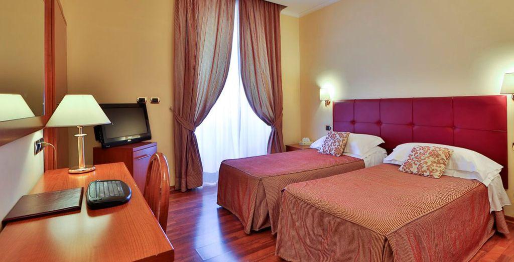 Amplias y cómodas habitaciones...