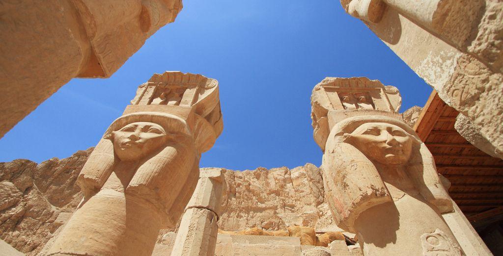 Detalle del Templo de la Reina Hatsheput