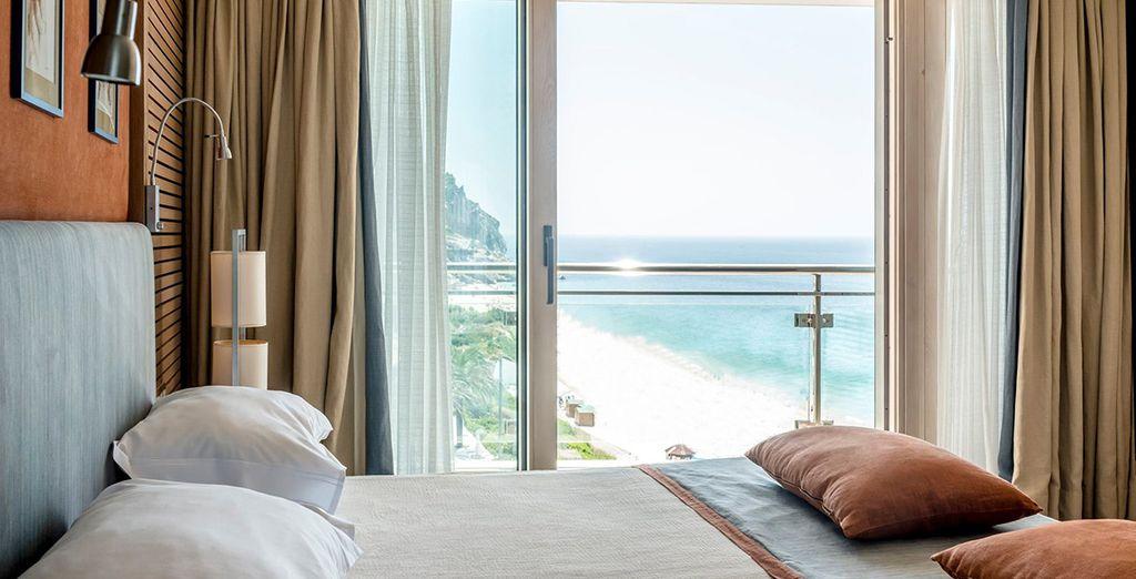 Te alojarás en tu habitación Doble con Vistas al Mar