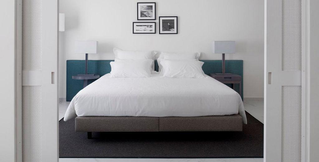 Las habitaciones superiores son perfectas para relajarse