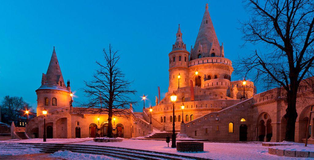 Una ciudad esencialmente mágica en invierno