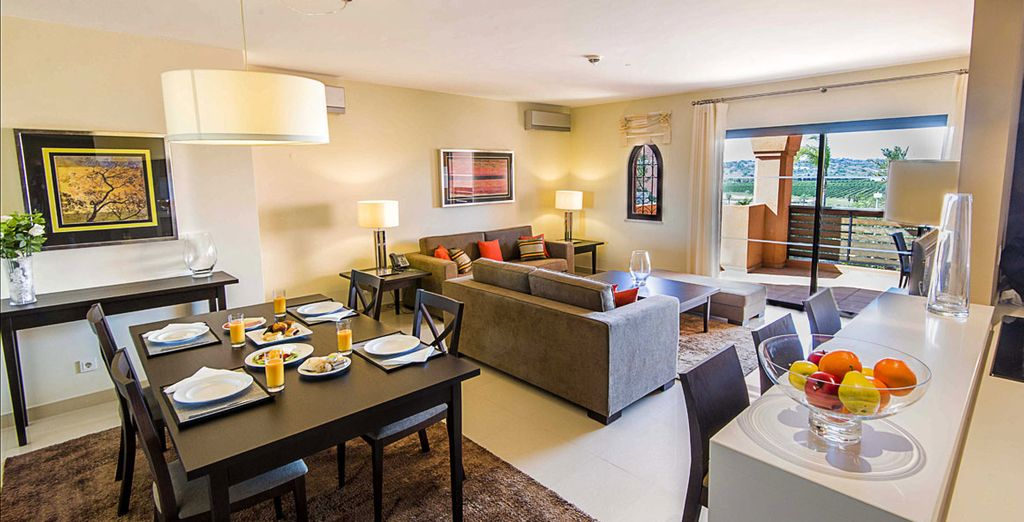 Si quieres puedes alojarte en un apartamento de 2 dormitorios con mezzanine
