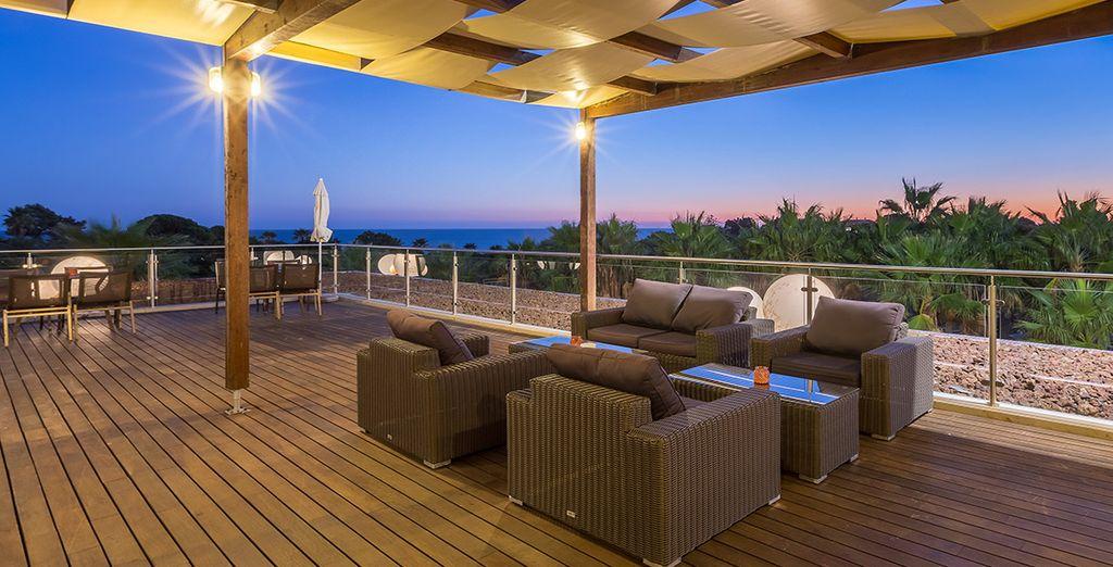 Con increíbles vistas al Mediterráneo