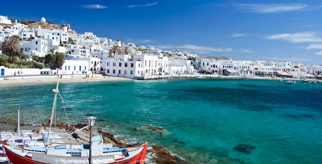 El color de Mykonos es inconfundible